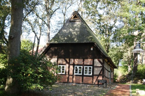 Example of a remaining tithe barn in Jesteberg, Germany