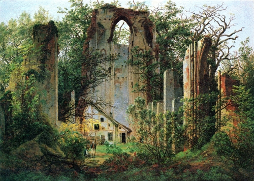 nature reclaims the ruins