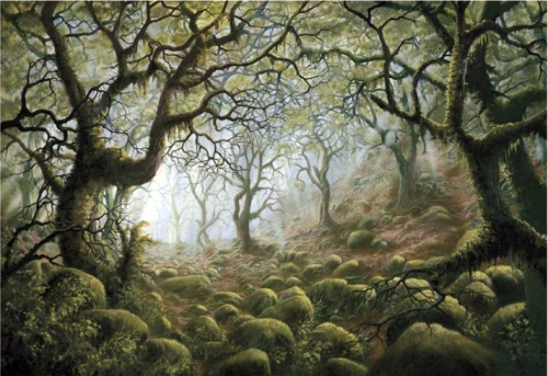 painting-wistmans-wood-dartmoor-85